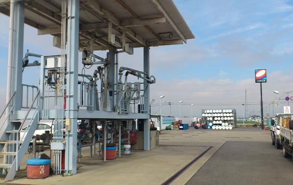 石油配送センター(油槽所)